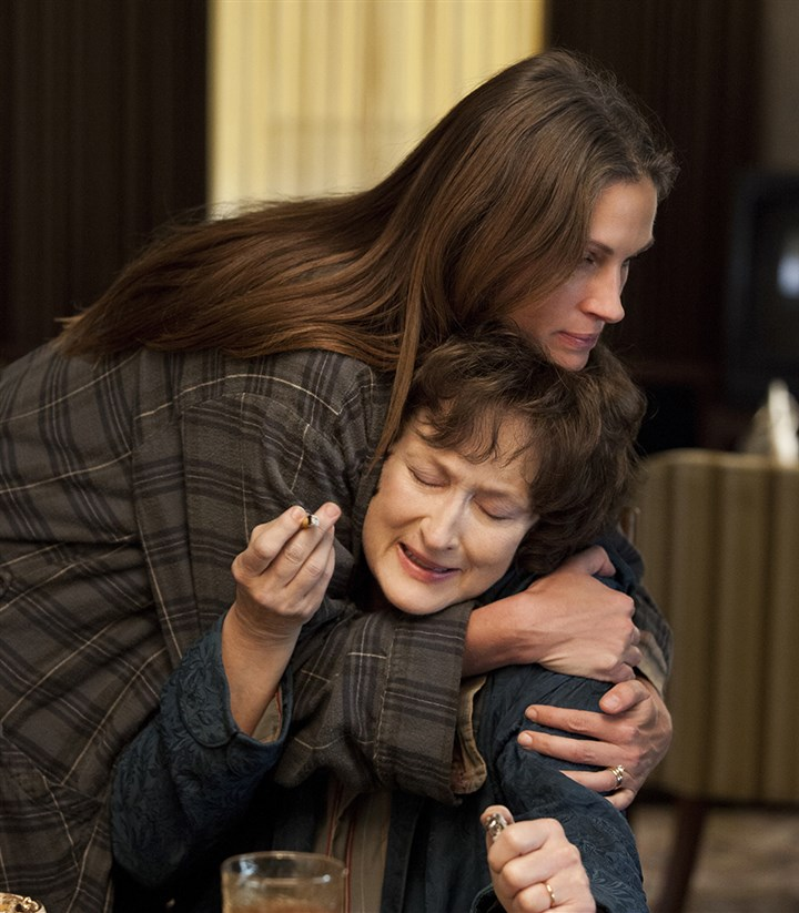 "OsageCounty Meryl Streep and Julia Roberts star in ""August: Osage County."""