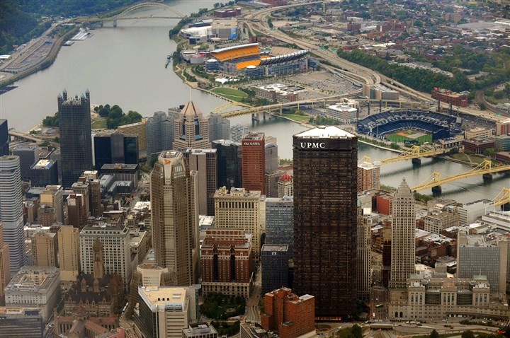 "UPMCAerialDowntown Mayor Bill Peduto was counting on the Smart City grant to give the city ""the chance to plan, design and build the next Pittsburgh."""