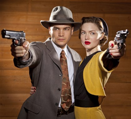 "20131208TVWeek_BonnieClyde2 Emile Hirsch and Holliday Grainger in the new TV miniseries, ""Bonnie and Clyde."""