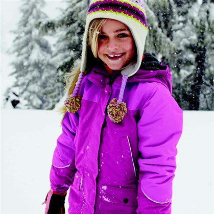 Girls waterproof squall parka Girls waterproof squall parka, $79.99-$89, by Lands' End.