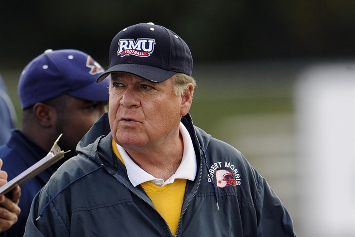 walton1115-10 Robert Morris head football coach Joe Walton.