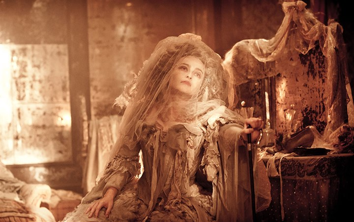 "GreatExpectations2-5 Helena Bonham Carter as Miss Havisham in ""Great Expectations."""