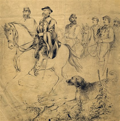 "Henri Lovie — ""General Asboth and Staff on Horseback Henri Lovie — ""General Asboth and Staff on Horseback,"" Dec. 10, 1861."