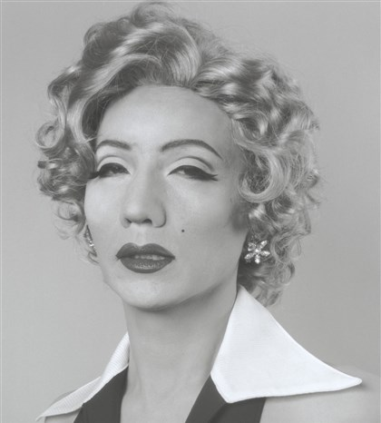 "thomasmagMonroe1996 ""Self Portrait (B/W) -- After Marilyn Monroe."" by Yasumasa Morimura."