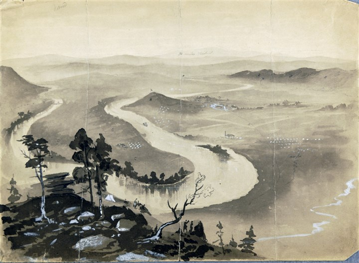 "Frederic B. Schell — ""Chattanooga Valley  Frederic B. Schell — ""Chattanooga Valley Sketched From Lookout Mountain After Sherman's Victory,"" Nov. 25, 1863."
