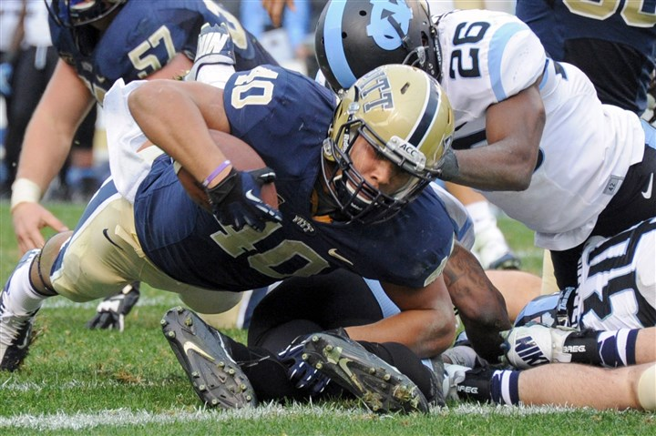20131116mfpittsports13-12 When James Conner dived into the end zone to help pull Pitt even, 27-27, with 8:52 to play in the game, one of the great comebacks in recent Pitt history appeared to be in the making.