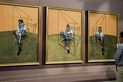 "portfolionew1118  ""Three Studies of Lucian Freud "" at the Borghese museum in Rome in September 2009. The triptych by British painter Francis Bacon sold for $142.4 million on Nov. 12 at a Christie's auction, smashing the world record for the most expensive piece of art auctioned."