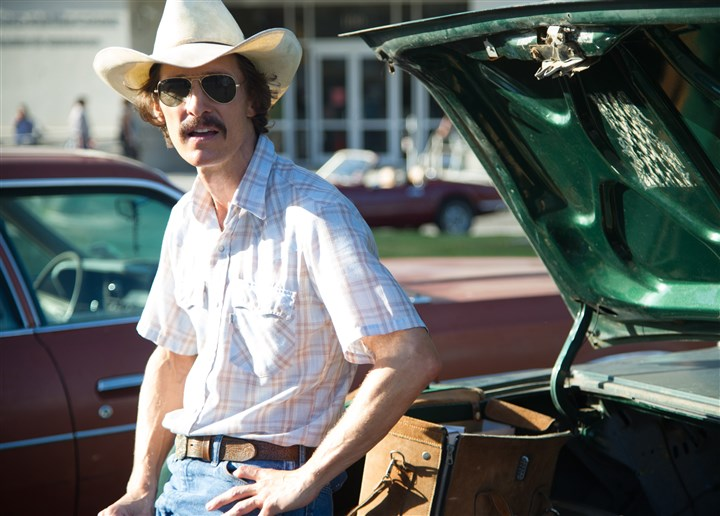 "DallasBuyersClub4-2 Matthew McConaughey as Ron Woodroof in ""Dallas Buyers Club."""
