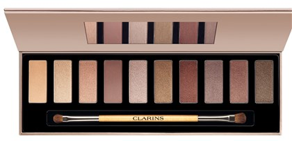 "seenessentials Clarins "" The Essentials "" Eye Palette, $45."