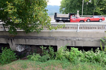 TransportationFunding7-3 Work to replace Heth's Run Bridge in Highland Park began this fall. The bill signed by the governor today is expected to accelerate repair and rehabilitation of bridges and highways.