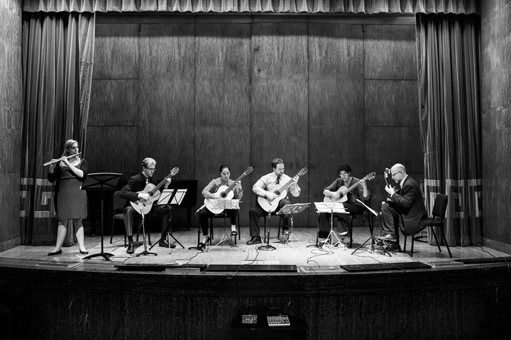 CMU The Carnegie Mellon Guitar Ensemble will be performing at 4400 Fifth Ave. starting at 8 tonight.