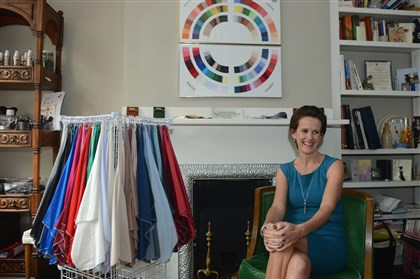 1121mhHouseofColourBiz04-3 Julie Peterson inside the North Side home studio she runs as part of the British franchise House of Colour, which provides personal clothing and make-up evaluations.