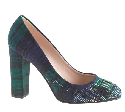 20131121plaidPumpSEEN Etta Tartan pump from J Crewn.