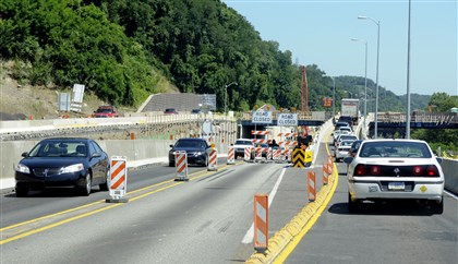 Traffic backup PennDOT is alerting motorists to new lane shifts on Route 28 southbound beginning Friday morning.