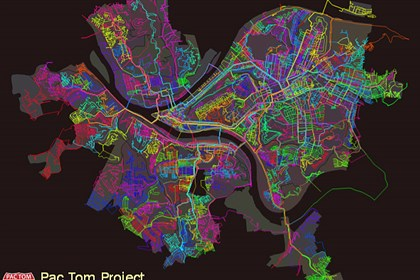 brianmap1124 See Tom run: Where a well-organized Google engineer has run, all over the city.