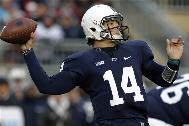 Penn State quarterback Christian Hackenberg Penn State quarterback Christian Hackenberg passes during the first quarter.