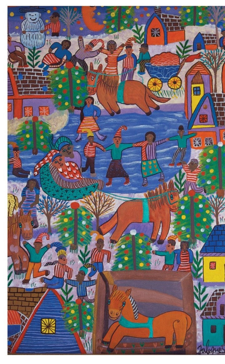 20131112greetingcard-3 Christmas card being sold by the Friends of Hopital Albert Schweitzer.