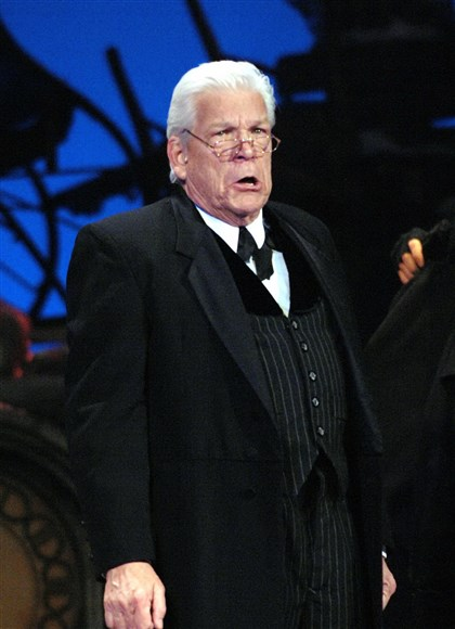 "Holiday6-6 Tom Atkins as Scrooge in Pittsburgh CLO's ""A Musical Christmas Carol"" at the Byham Theater through Dec. 22."
