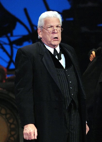 "Holiday6-6 Tom Atkins as Scrooge in Pittsburgh CLO's ""A Musical Christmas Carol/"""