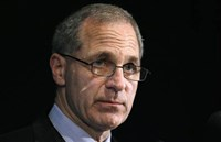 Former FBI director Louis Freeh speaks about the Penn State-commissioned Freeh Report during a news conference in Philadelphia in 2012.