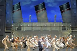 "Rachel York, center, leads a rousing ship-shape tour of ""Anything Goes,"" at Heinz Hall through Sunday."