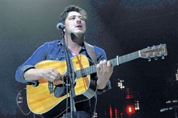 "Marcus Mumford opens to a sellout crowd with ""Lovers Eyes. """