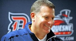 Duquesne coach Jim Ferry
