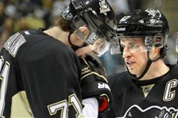 Evgeni Malkin, 71, and Sidney Crosby.