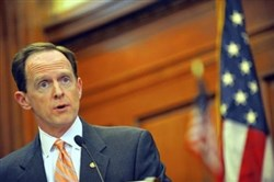 The lives of six police officers in Baltimore will never be the same, U.S. Sen. Pat Toomey, R-Pa., said Tuesday in a speech sympathetic to law enforcement.