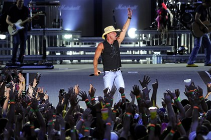 Kenny Chesney performs at Heinz Field as part of his No Shoes Nation tour in June 2013.