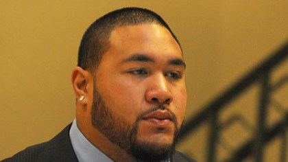 alameda taamu arrives in court Steeler rookie nose tackle Alameda Ta'amu arrives for his preliminary hearing.