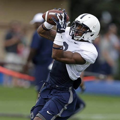 Allen Robinson Penn State wide receiver Allen Robinson catches a pass Thursday in practice. Robinson will have a more varied role in the Nittany Lions offense this season.