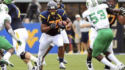 alston West Virginia running back Shawne Alston led the Mountaineers with 123 rushing yards Saturday against Marshall.
