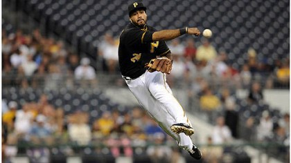 alvarez Pirates' Pedro Alvarez throws out Dodgers' Matt Kemp in the first inning Tuesday night at PNC Park.