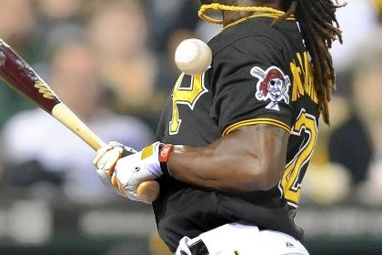 Andrew McCutchen hbp Andrew McCutchen is hit by Reds pitcher Sam LeCure in the eighth inning Friday at PNC Park.