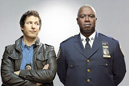 "Andy Samberg, Andre Braugher Andy Samberg, left, and Andre Braugher clash in a police precinct in the Fox comedy ""Brooklyn Nine-Nine."""