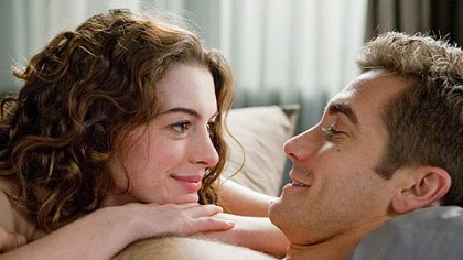 "Anne Hathaway with Jake Gyllenhaal Anne Hathaway, above with Jake Gyllenhaal, filmed ""Love & Other Drugs"" in Pittsburgh in 2009."