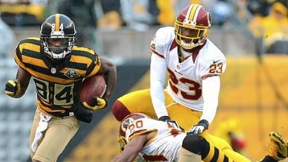 antonio Brown Antonio Brown, left, was singled out by Mike Tomlin for a taunting penalty in Sunday's game against Washington.