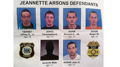 atf suspects handout Five adults and a juvenile were arrested for a string of arsons in Jeannette.