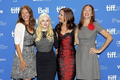 "'August: Osage County' Julia Roberts, left, Abigail Breslin, Juliette Lewis and Julianne Nicholson attend the press conference for their film, ""August: Osage County,"" at the Toronto International Film Festival. It was one of many emotional films that were screened."