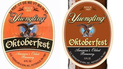 "Beer The beer maker's version of the label would place the word ""Oktoberfest"" in a slightly curved box, according to a copyright infringement lawsuit filed last week, while Adam J. D'Addario's version places it on a straight line."