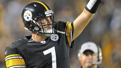 Ben Roethlisberger Ben Roethlisberger had two of three touchdown passes == the other coming from Byron Leftwich == in Thursday's preseason victory against the Philadelphia Eagles.