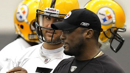 Ben Roethlisberger Steelers quarterback Ben Roethlisberger listens to head coach Mike Tomlin.