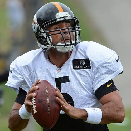 bruce gradkowski Pittsburgh Steelers quarterback Bruce Gradkowski, during afternoon practice at Saint Vincent College in Latrobe.