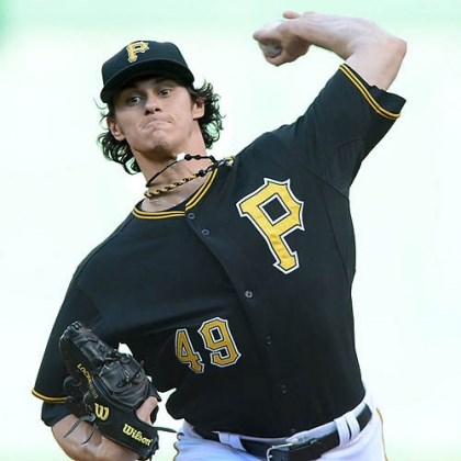 bucs4 Jeff Locke pitching June 14 for the Pirates at PNC Park.