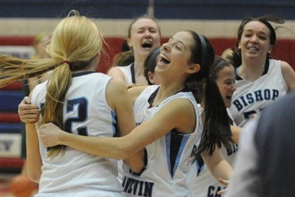 Canevin Bishop Canevin teammates celebrate after beating Seton-LaSalle and earning a trip to the PIAA championship.