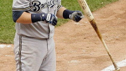 Casey McGehee Brewers infielder Casey McGehee flips his bat after striking out with men on first and third during the ninth inning.