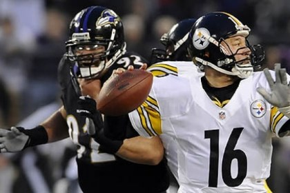 Charlie Batch Steelers quarterback Charlie Batch drops back to pass against the Baltimore Ravens in a game in November.