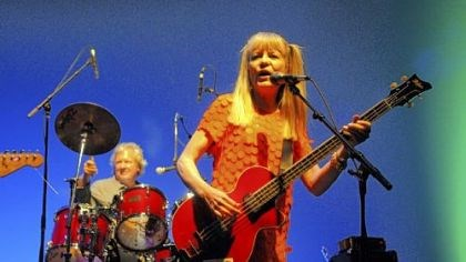 Chris Frantz on drums and Tina Weymouth Chris Frantz on drums and Tina Weymouth of Tom Tom Club