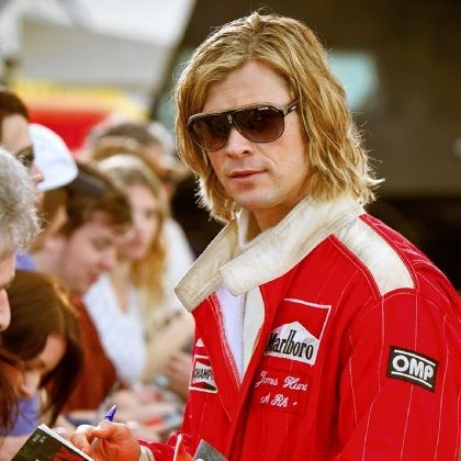 "Chris Hemsworth Chris Hemsworth as James Hunt in ""Rush."""